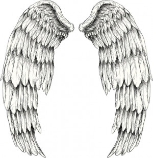 angel wing tattoo quotes quotesgram. Black Bedroom Furniture Sets. Home Design Ideas