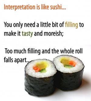 Sushi quote