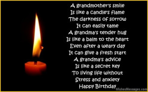 Happy Birthday Poems For Grandma From Granddaughter