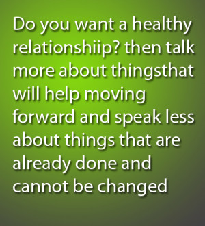 Want a healthy Relationship