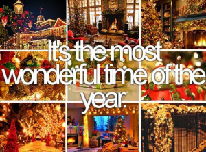 It's The Most Wonderful Time Of The Year. ~ Christmas Quote