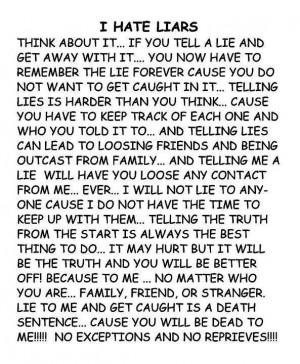 hate liars!!!!