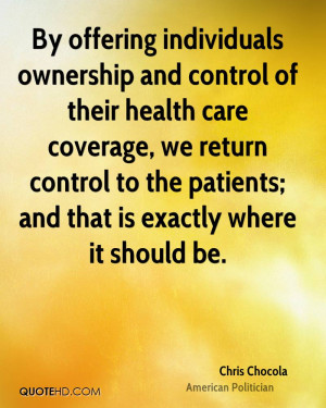 By offering individuals ownership and control of their health care ...