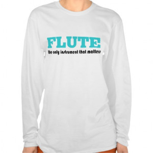Funny Flute Player T-shirt