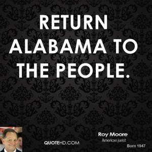 Return Alabama to the people.