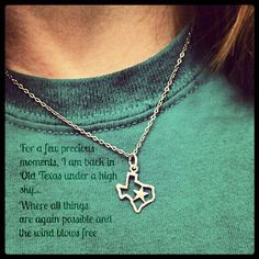 ... Texas #Necklace #Homesick #TexasQuotes #Quotes #Teal #Pretty #