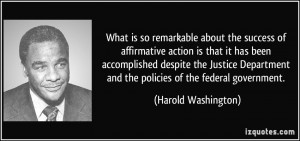 ... Justice Department and the policies of the federal government