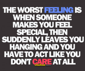 """... And You Have To Act Like You Don't Care At All """" ~ Sad Quote"""