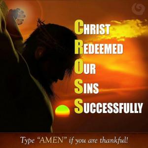 The sacrifice of the Cross