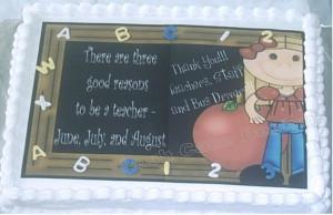 teacher appreciation graduation sheet cake a simple cake for teacher ...