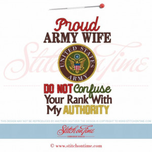 5988 Sayings : Proud Army Wife 5x7