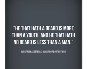 Typographic Beard Quote from