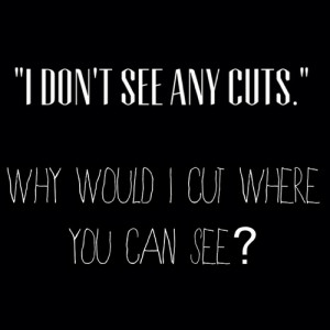 depressing quotes about cutting tumblr