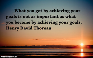 We all have goals that we want to attain but how do we put the goals