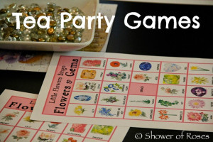 Little Flowers Girls' Club Tea Party Games