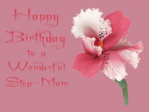 Happy Birthday Step-Mom