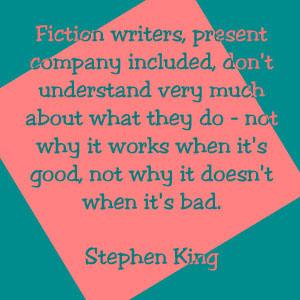Fiction writers ...