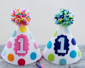 1st birthday party hat boys and g irls first birthday felt party hat ...