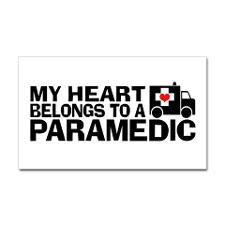 My Heart Belongs To A Paramedic Sticker (Rectangle for
