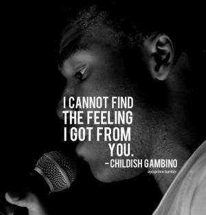childish gambino quote