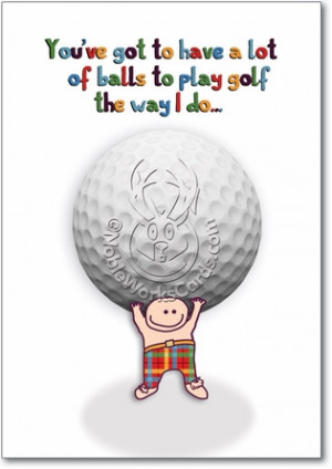 Golf Balls Unique Naughty Funny Birthday Paper Card Nobleworks
