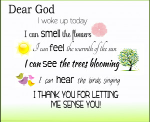 little quote picture because i was thinking of all the blessings god ...