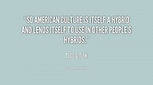 So American culture is itself a hybrid and lends itself to use in ...