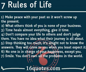 Make peace with your past so it won't screw up the present. 2 ...