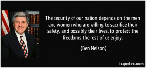 The security of our nation depends on the men and women who are ...