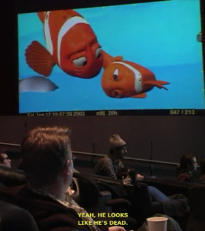 ... Andrew Stanton giving notes to an animator during Finding Nemo 's