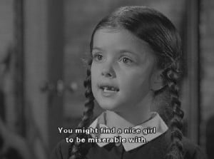 The original Wednesday Addams. =P Isn't she just cute? >.