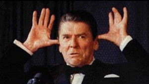 Right-wing demi-god and Republican President Ronald Reagan.