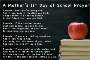 first day of school prayerLittle Girls, Start Schools, Mothers, Quotes ...