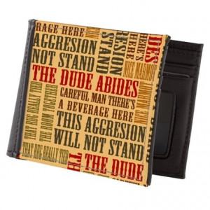 Abide Gifts > Abide Wallets > Big Lebowski Dude Quotes Mens Wallet