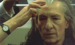 Ian McKellen as Gandalf without Beard
