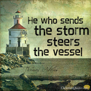 Thomas Adams Quote – 6 ways God steers Christians through storms
