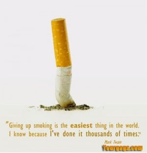 Funny Quit Smoking Quotes