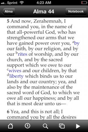 Book of Mormon- Alma's Patriotism for his people:))