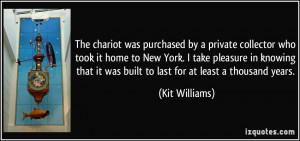 The chariot was purchased by a private collector who took it home to ...