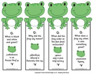 ... frogs frog printables animal printables animal bookmarks jokes for