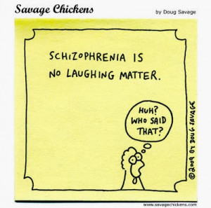 schizophrenic patient is told by a nurse, So you hear voices, such ...