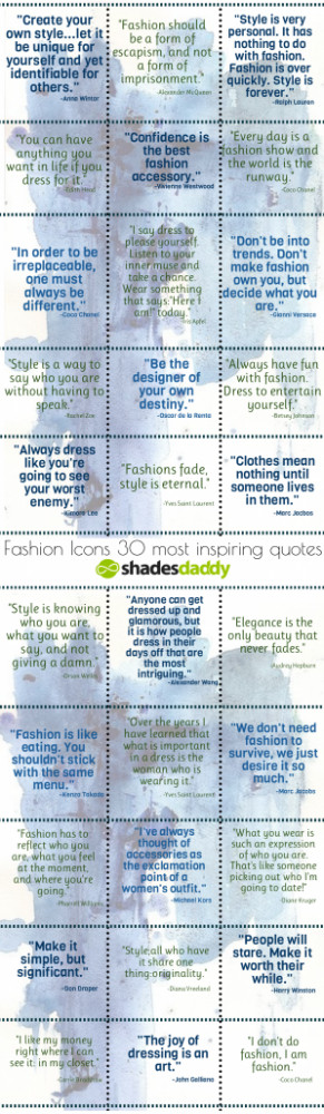 30 Inspiring Style & Fashion Quotes from Fashion Icons