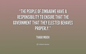 The people of Zimbabwe have a responsibility to ensure that the ...