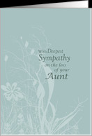 Sympathy loss of AUNT card - Product #376118