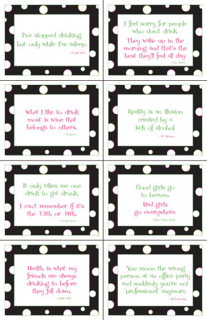 ... Dots Wine Labels - Set of 8 contains all 8 sayings above - $10