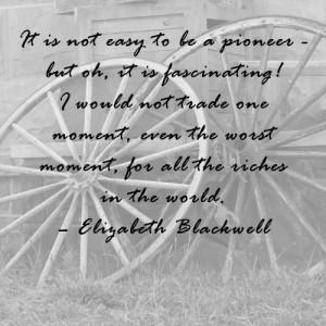 Elizabeth Blackwell quote