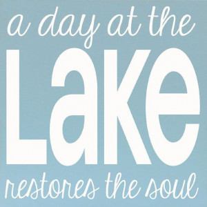 Bay Blue 'Day at the Lake' Wall Art