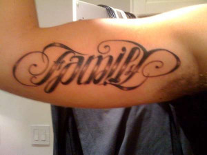 Family/Friends Ambigram tattoo