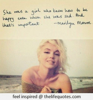 Inspirational Marilyn Monroe Quotes For Girls