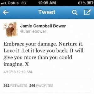 Jamie Campbell Bower tweet